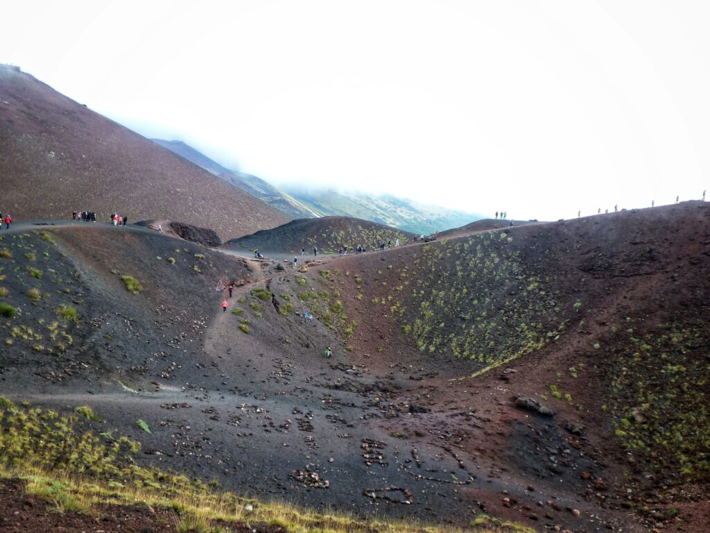 The lower Silvestri Crater on Mount Etna Sicily Italy